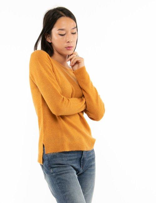 Maglione Maison du Cachemire tessuto leggero - Arancione