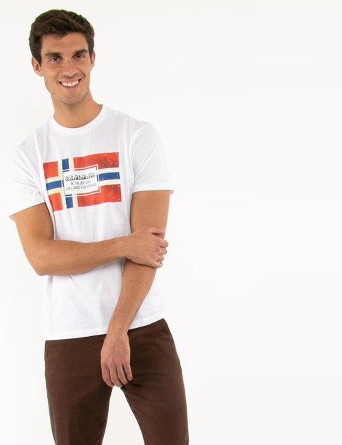 T-shirt Napapijri con stampa - Bianco