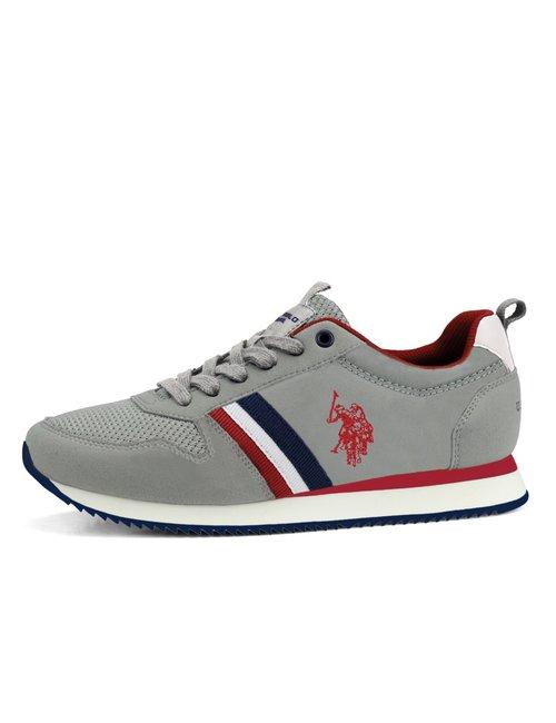 Sneaker U.S. Polo Assn. con bande laterali - Grigio
