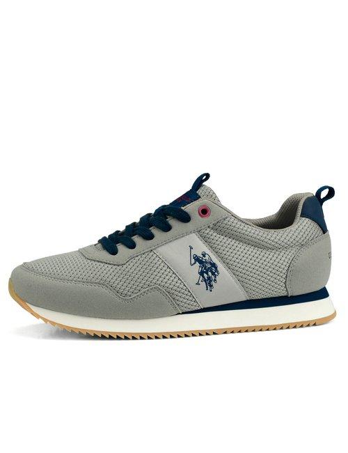 Sneaker U.S. Polo Assn. con logo a lato - Grigio
