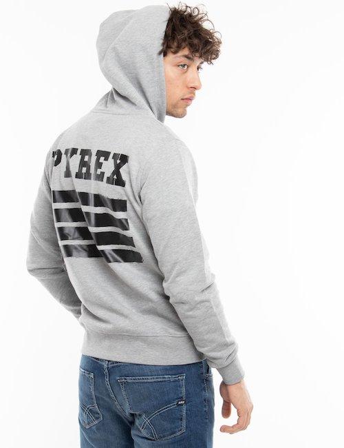 Felpa Pyrex con zip e cappuccio - Grey