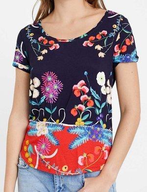 T-shirt Desigual floreale