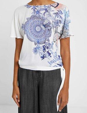 T-shirt Desigual con nodo a lato