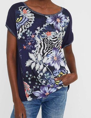 T-shirt Desigual stampata