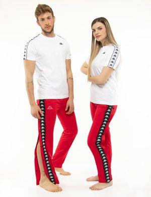 Pantalone Kappa con bottoni e bande laterali