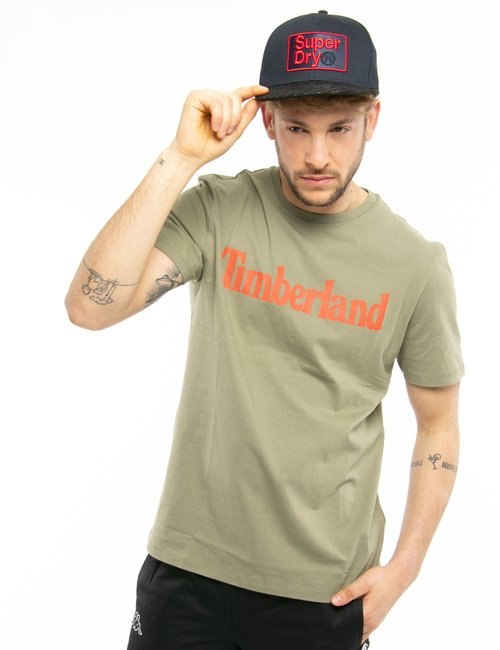 T-shirt Timberland con logo stampato - Verde