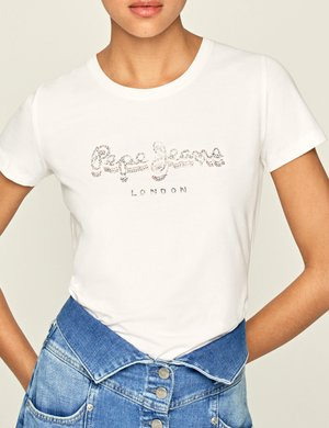 T-shirt Pepe Jeans con strass