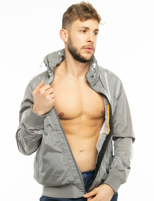 Giacca Fred Mello in tessuto leggero - Grigio