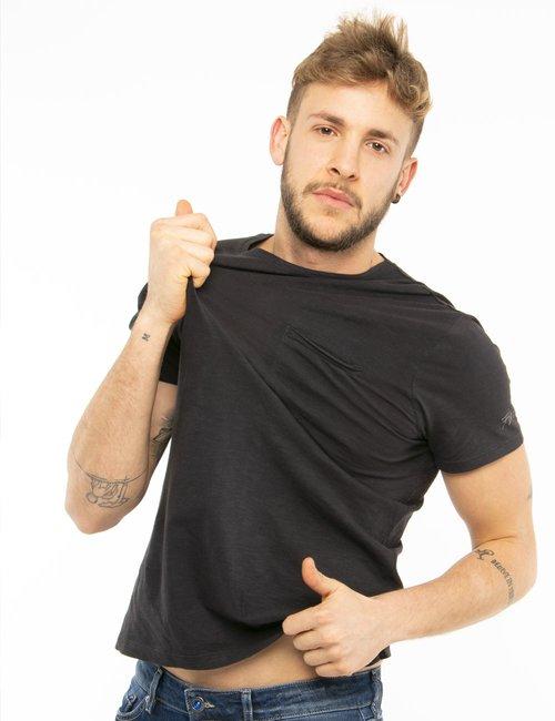 T-shirt Fred Mello in cotone - Nero