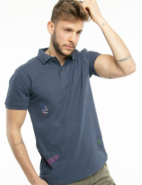 Polo Fred Mello fantasia - Blu
