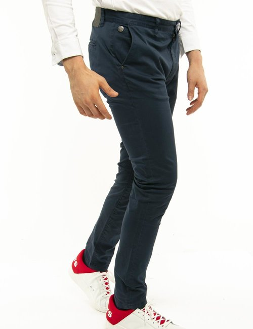 Pantalone Fred Mello slim fit - Blu