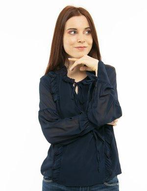 Camicia Fracomina con arricciature e merletti
