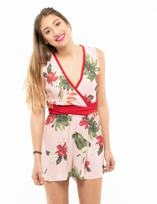 Tuta Imperfect floreale - Rosa