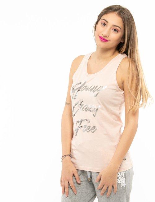 Top Maison Espin con scritta - Rosa