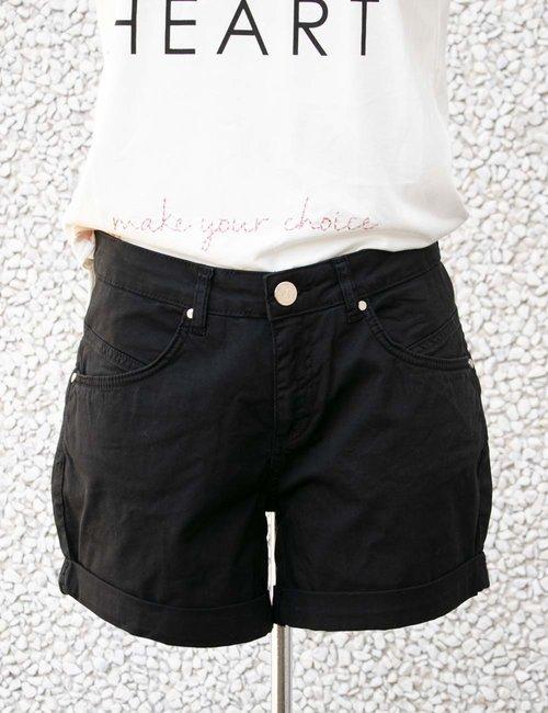 Shorts Yes Zee con risvolto - Nero
