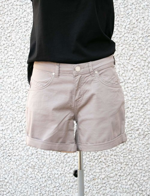 Shorts Maison Espin con risvolto - Beige