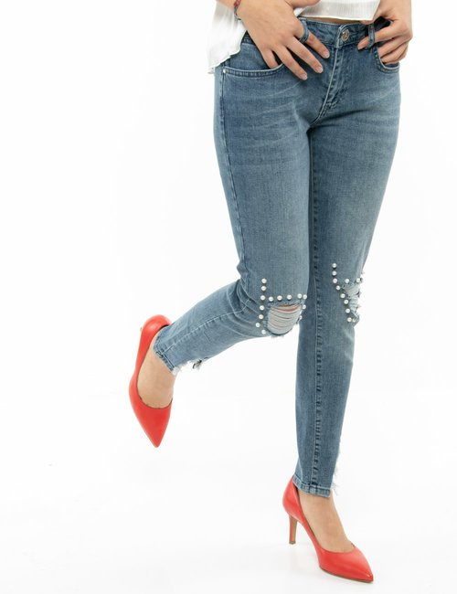 Jeans Maison Espin con perle - Jeans
