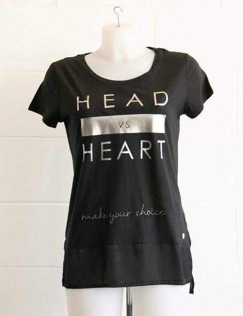 T-shirt Maison Espin con scritta stampata - Nero