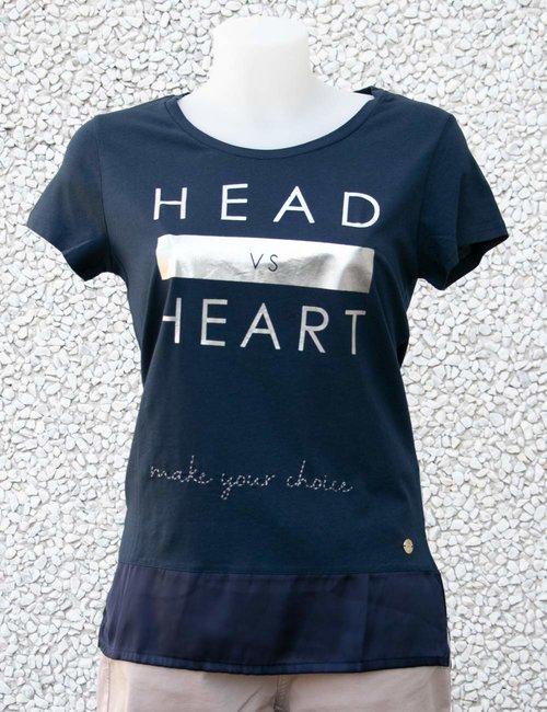 T-shirt Maison Espin con scritta stampata - Blu