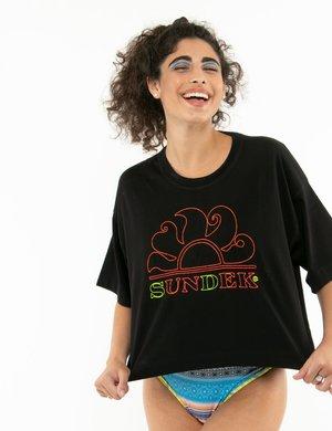T-shirt Sundek con logo ricamato
