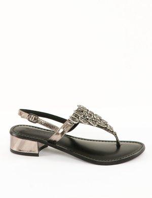 Sandalo Cafè Noir con applicazioni e strass