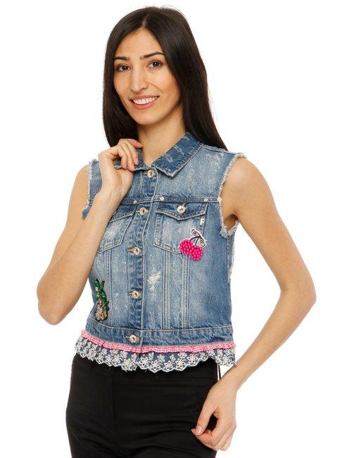 Gilet Fracomina in denim - Jeans