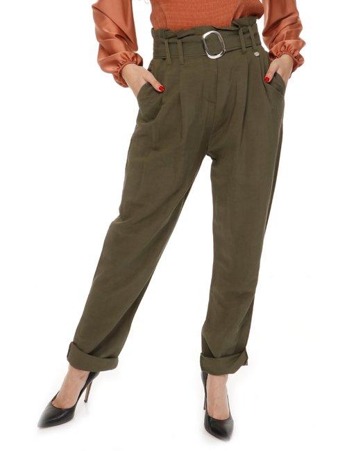 Pantalone Yes Zee con cintura - Verde