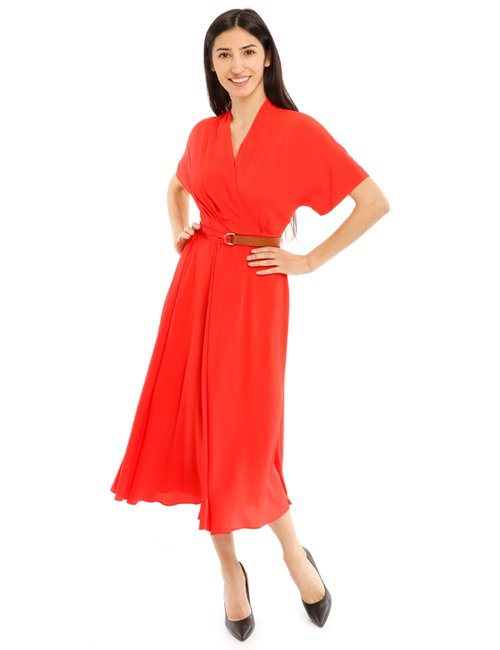Vestito Beatrice B con cintura - Rosso