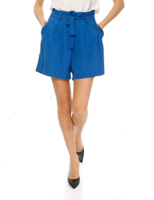 Shorts Vougue con cintura - Blu