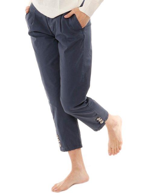 Pantalone  Yes zee con inserti sulla caviglia - Blu