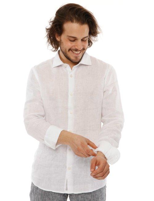 Camicia  Yes zee con logo - Bianco