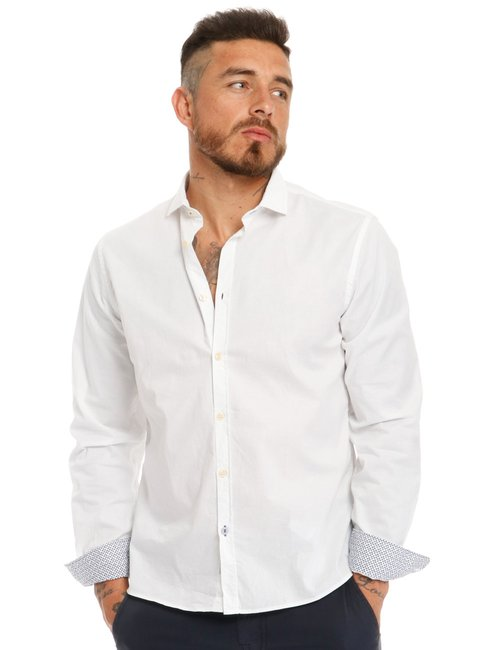 Camicia Fred Mello in cotone stretch - Bianco