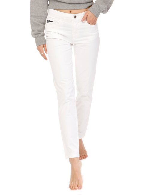 Pantalone Yes zee con logo - Bianco