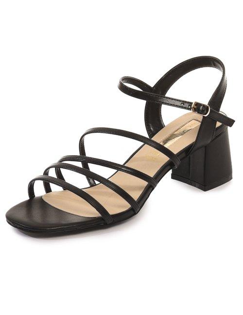 Sandalo Cafè Noir con tacco largo - Nero