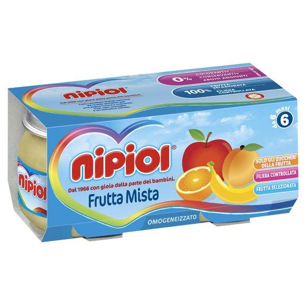 Nipiol Omogeneizzato Frutta Mista 2 x 80 g