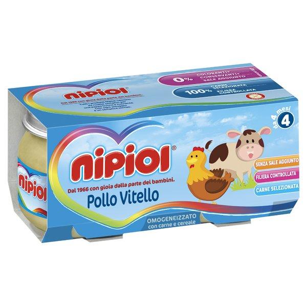 Nipiol Omogeneizzato con Pollo, Vitello e Cereale 2 x 80 g
