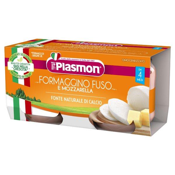 Plasmon Formaggino Fuso e Mozzarella Omogeneizzato 2 x 80 g
