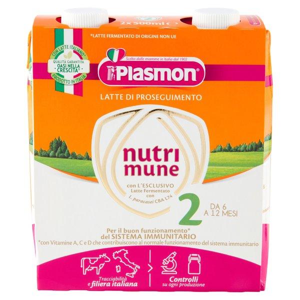 Plasmon Latte di Proseguimento nutri mune 2 2 x 500 ml