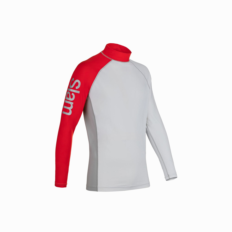 Frigate Top - Weiss / Grau / Slam Red