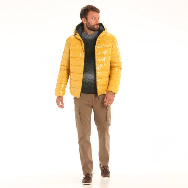 Men jacket F08 reversible with hood