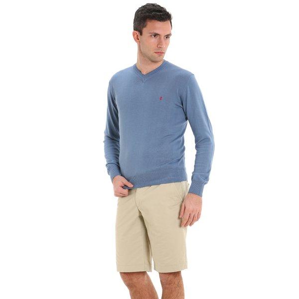 Jersey Amick para hombre, en algodón y con cuello en V