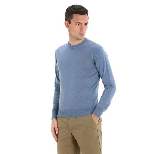 Men's Fluyt crew-neck sweater in solid color