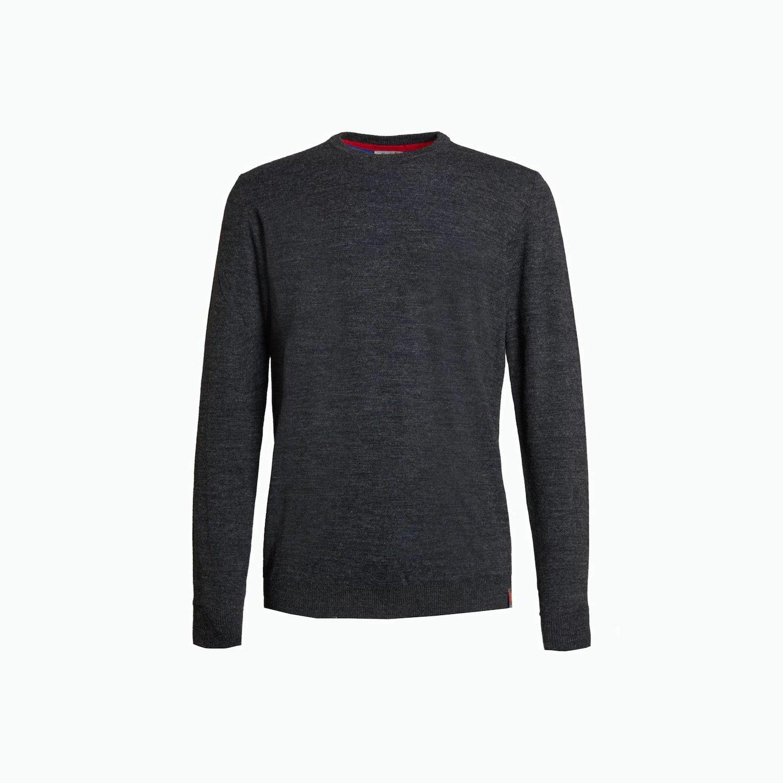 Pullover B85 - Dunkel Grau Melange