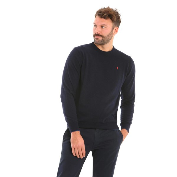 Italian-made cashmere blend crew-neck men's jumper B132