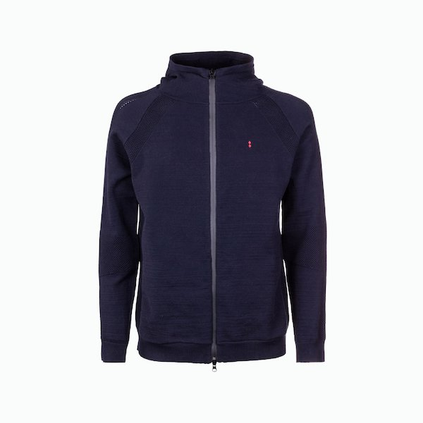 Men's C144 zip cardigan with hood