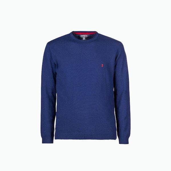 Suéter hombre C244 mixto de lino de cuello redondo