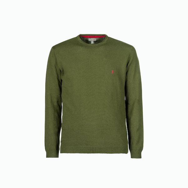 C244 men's sweater in linen blend with round neck