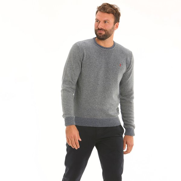 Italian-made cashmere blend crew-neck men's jumper D61