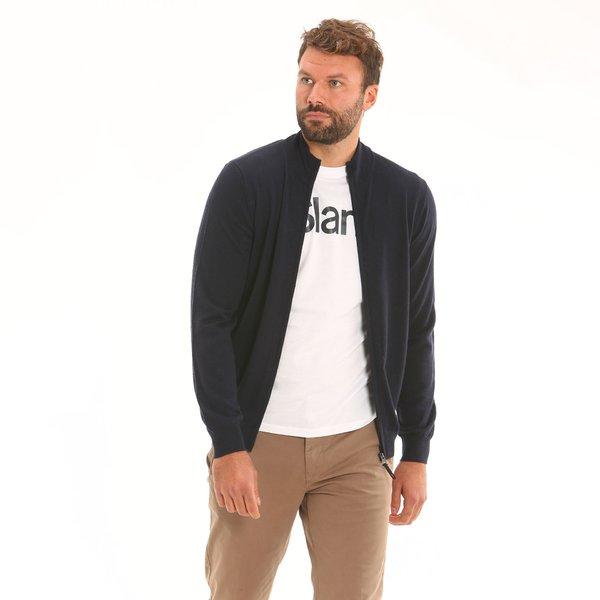 Cardigan uomo F68 in lana merino