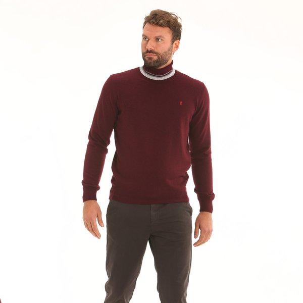 Italian-made cashmere blend polo-neck Men's jumper F65